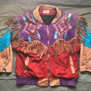 Vintage Char Santa Fe Suede Leather Jacket